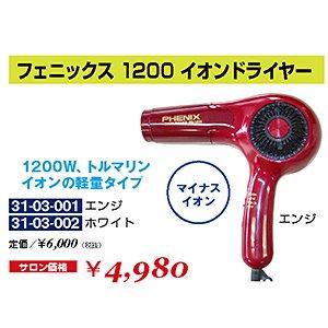 DR-010-10☆新品<BR>フェニックス 1200<BR>イオンドライヤー(HB)