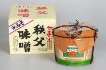 米こうじみそ3kg・樽詰化粧箱入り