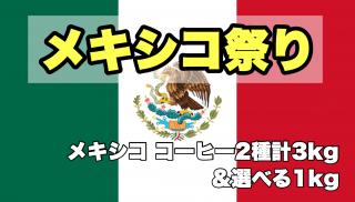 【早期購入特典 第2弾|数量限定】★無農薬コーヒー生豆★ メキシコ祭2021(マヤ新豆2kg &セスマッチTR 1kg)+選べるコーヒー生豆セット 計4kg