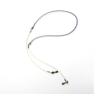 DIFFUSER (ディフューザー) グラスコード(メガネチェーン) TWO TONE GENUINE LEATHER GLASS CODE SG1003T Blue&Off White