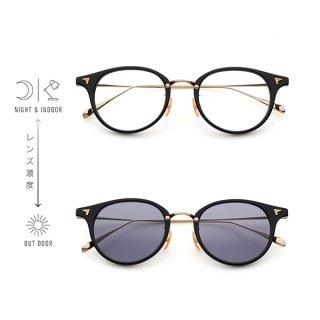 BJ Classic Collection (ビージェイクラシック) SUNSHIFT(サンシフト)S-C510N col.1-1 (ブラックゴールド/クリア→グレー)