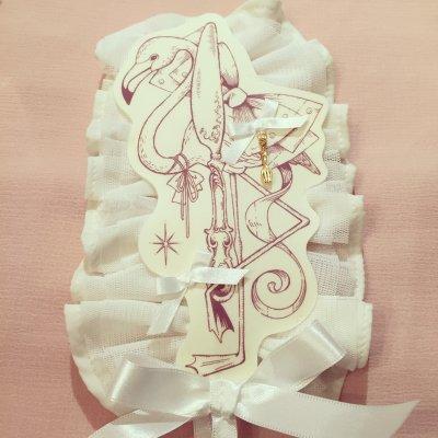 pd7018-1 10thフラミンゴヘッドドレス(White)