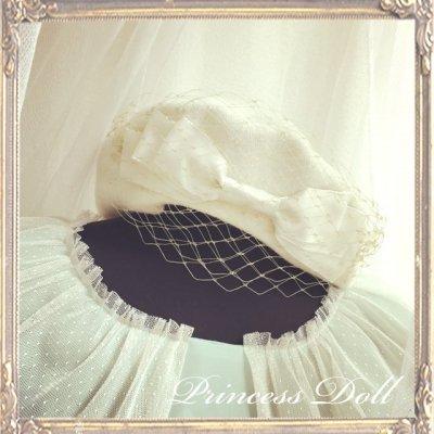 pd8057-1 Ladyベレー帽(Milk×Gold)