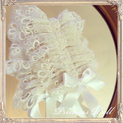 4048-1-1 Dollyヘッドドレス(flower)(White Beige)