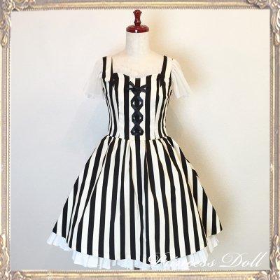 1077-4 Lady Dress(stripe)