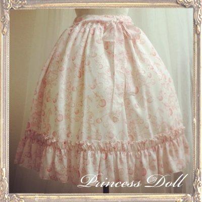 2059-4 ミディチェリラビ Skirt(Pink地×Pink柄)