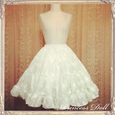 2061-1 お花のスカート(White)