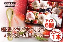金額から探す(セット) 極選 いちごアイス 食べ比べ+アイスクリーム専用スプーン セット(6個+1本)