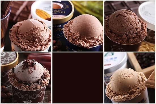 濃厚 チョコアイス 食べ比べ+アイスクリーム専用スプーン セット(5個+1本)【画像2】