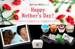 濃厚 バニラアイスクリーム 【母の日仕様】ご当地アイス8個+生写真のプレゼント!