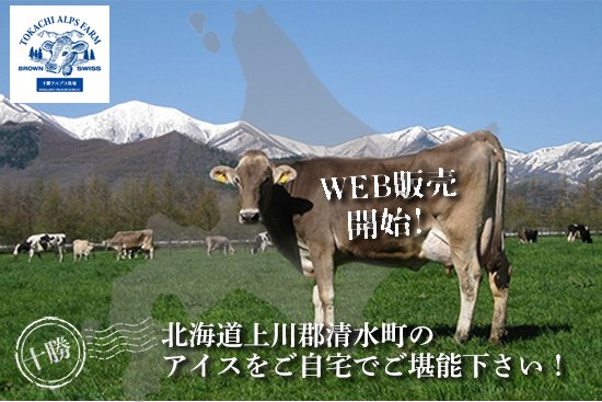 北海道 十勝アルプス牧場アイスのWEB販売開始!