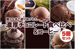 読み物 濃厚 チョコレートアイス&コーヒーアイスセット (5個セット)