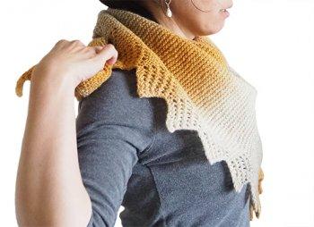 Kauni Yarnで編むストール キット