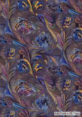 021 ブルーマーブル 61cm巾
