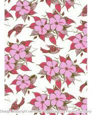 210 Whimsical Garden 50cm巾