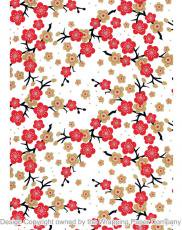 204 Japanese Blossom Red 50cm巾