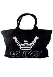 CONVICT キャンバストートバッグ BLACK