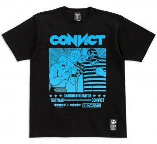 キン肉マン×CONVICT Tシャツ チェーンデスマッチ BLACK