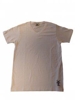 CONVICT VネックTシャツ WHITE