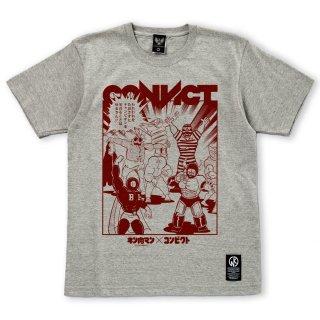 キン肉マン×CONVICT Tシャツ 7人の悪魔超人 GRAY