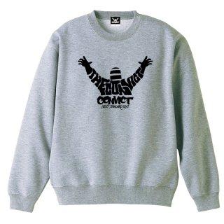 CONVICT カリグラフィー スウェットシャツ GRAY