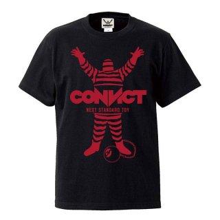 CONVICT Tシャツ BLACK×RED