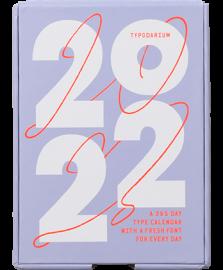 日めくりタイポカレンダー Typodarium 2022
