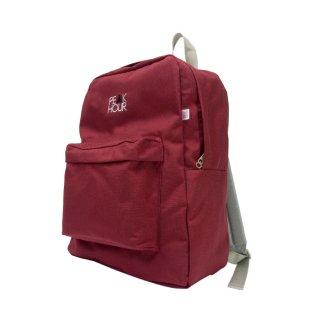 'PE▲K HOUR' Nylon Cordura-Backpack[BURGUNDY×GRAY]
