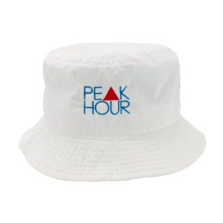<img class='new_mark_img1' src='https://img.shop-pro.jp/img/new/icons22.gif' style='border:none;display:inline;margin:0px;padding:0px;width:auto;' />'PE▲K HOUR' Polyester Bucket Hat [WHITE]