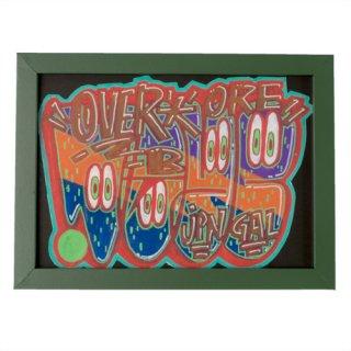 'OVERDOSE' Framed Sticker No.2