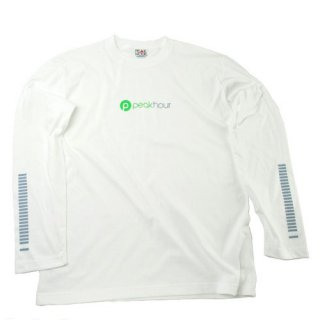 <img class='new_mark_img1' src='https://img.shop-pro.jp/img/new/icons22.gif' style='border:none;display:inline;margin:0px;padding:0px;width:auto;' />'peak hour - beats/neon green' Long Sleeve T-Shirts [WHITE]