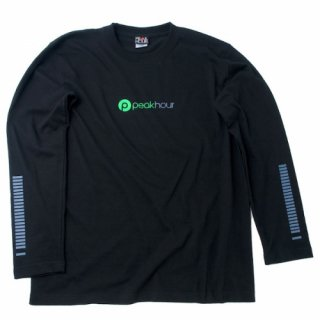 <img class='new_mark_img1' src='https://img.shop-pro.jp/img/new/icons22.gif' style='border:none;display:inline;margin:0px;padding:0px;width:auto;' />'peak hour - beats/neon green' Long Sleeve T-Shirts [BLACK]