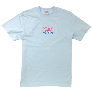 'PE▲K HOUR NEON' T-Shirt [SKY BLUE]