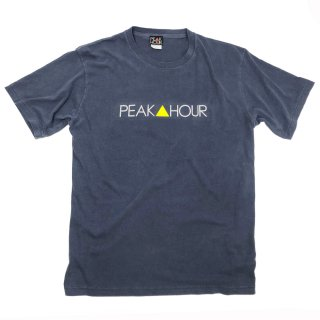 'PEAK▲HOUR' Pigment Dye T-Shirt [WASHED NAVY]