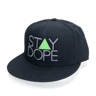 <img class='new_mark_img1' src='https://img.shop-pro.jp/img/new/icons5.gif' style='border:none;display:inline;margin:0px;padding:0px;width:auto;' />'ST▲Y DOPE' Snapback Cap #2 [BLACK]