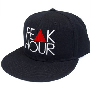 'PE▲K HOUR' Snapback Cap [BLACK]