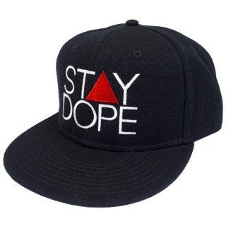 'ST▲Y DOPE' Snapback Cap [BLACK]