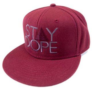 'ST▲Y DOPE-SHADOW' Snapback Cap [BURGUNDY]