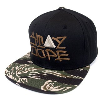 'ST▲Y DOPE / AMES Model' Snapback Cap [BLACK×TIGER CAMO]