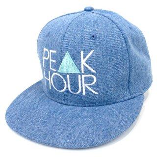 'PE▲K HOUR' Denim Snapback Cap [LIGHT BLUE]