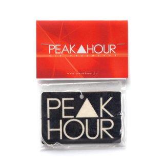 'PE▲K HOUR' Air Freshener [BLACK 2]