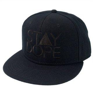 'ST▲Y DOPE-All Black' Snapback Cap [BLACK]
