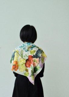 スカーフ正方形(シルク、コットン)