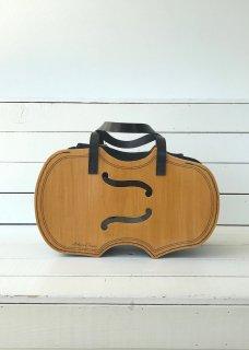 ウッドバッグ バイオリン透かし(音符刺繍)