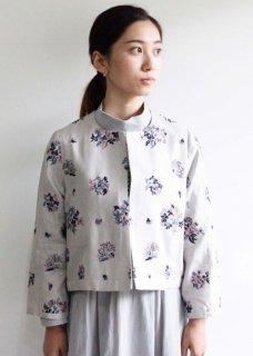 野小花刺繍のボレロジャケット
