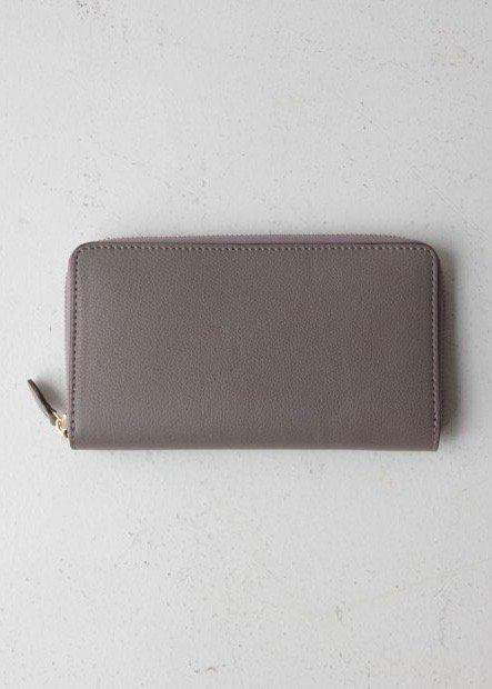 イタリアンレザー ジッパー長財布