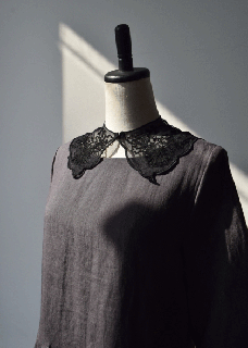 Tulle chain embroidery collar