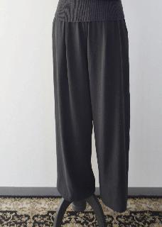 cotton double gather pants