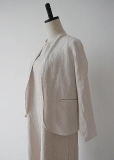 crepe linen jacket