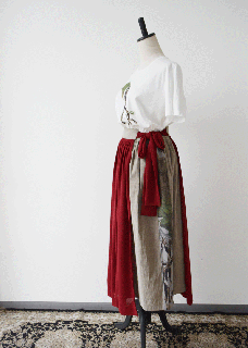 red apron skirt
